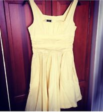 Vintage KATE MOSS TOPSHOP Iconic Yellow 50s 60s Cotton Dress - 10