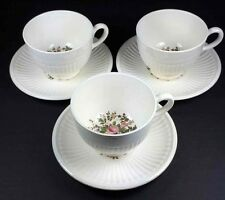 Wedgwood Conway EDME Cups & Saucers Set Of 3 Made In England