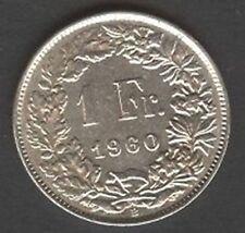 SWITZERLAND 1 Franc 1960 AG