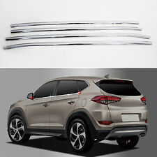 Chrome Door Window Sill Belt Molding Trim Cover for 2016+ Tucson