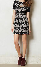 Myne Exploded Houndstooth Shift Dress Size 10 Black Motif NW ANTHROPOLOGIE Tag