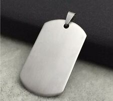 """Men Stainless Steel Necklace Pendant Dog Tag 20""""Chain Link Dangle Charm Jewelry"""