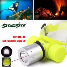 3500Lm CREE T6 Waterproof Linterna Buceo Head claro Lamp eléctricas Torch