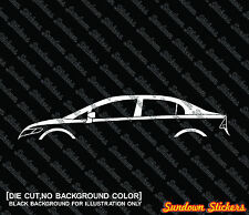 2X Car silhouette stickers - for Honda Civic FA / FD Sedan, 8th generation