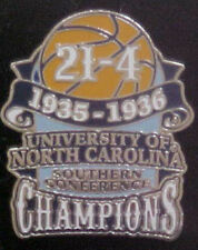 NORTH CAROLINA TAR HEELS 1935-36 SOUTHERN CHAMPS WILLABEE & WARD COMM SERIES PIN