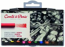 Conte a Paris Artists Soft Pastels Set of 10 Assorted High Grade Colours