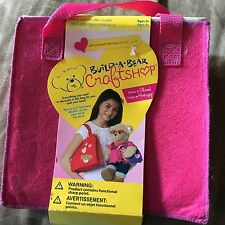 Build-A-Bear Craftshop Decorate a Tote Bag Craft Kit NEW Decorate Felt Pink Tote