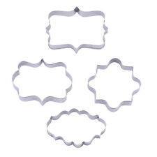 Baking Cookie Cutter Mold Fondant Pastry Biscuit Stainless Steel Mould Set 4Pcs