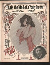 That's the Kind of A Baby For Me 1917 Eddie Cantor Ziegfeld Follies Large Format