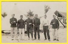 cpa CARTE PHOTO Sous Officiers du 145e Régiment Camp Militaires Uniformes