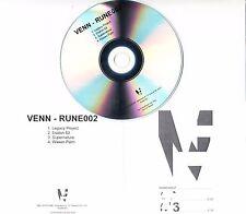 VENN RUNE002 2016 UK 4-track promo test CD + press release