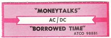 Juke Box Strip Ac/Dc - Moneytalks / Borrowed Time