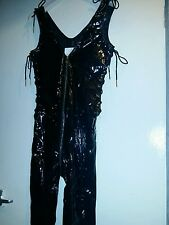 ann summers pvc size 8 bnwt figure hugging catsuit zipped fully crouch Halloween