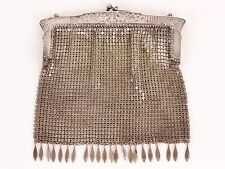 Vintage G.Silver Chainmail Mesh Small Evening Purse Bag Clutch