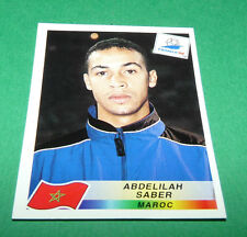 N°52 ABDELILAH SABER MAROC MOROCCO PANINI FOOTBALL FRANCE 98 1998 COUPE MONDE WM