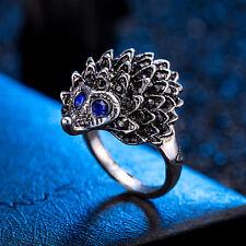 Vintage Women Animal Hedgehog Rings Antique Silver Band Finger Punk Knuckle Ring