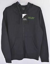 Oakley O-Jupiter Sweatshirt Hoodie Mens S Jet Black Printed Full Zip NEW 5357