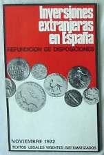 INVERSIONES EXTRANJERAS EN ESPAÑA - REFUNDICIÓN DE DISPOSICIONES TEXTOS LEGALES