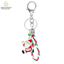 For Christmas Day Gift Funny Enamel Santa Claus Key Ring Keychain Keyfob Gift