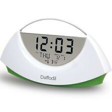 Daffodil AMC530 - Digital LCD Alarm Clock with Calendar and Thermometer (Green)