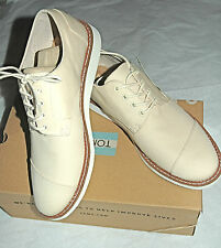 TOMS Men's Classic Brogue Natural Cotton Twill Size 11