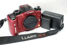 Panasonic Lumix DMC-G2 Red Digital Camera body, full working order