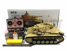 Henglong Hengl Long 1:16 R/C S&S Desert Yellow Panzer IIIH Tank(Super Version)