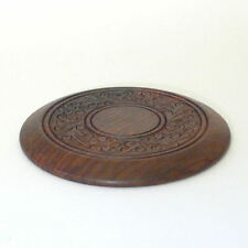 Untersetzer aus Sheeshamholz, ca. 12,5 cm Holzuntersetzer Dekoration