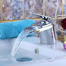 Mixer Waterfall Tap Monobloc Single Handle Bath Kitchen Water Basin Sink Faucet