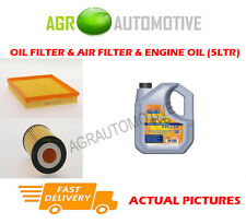 PETROL OIL AIR FILTER KIT + LL 5W30 OIL FOR OPEL ZAFIRA 1.6 116 BHP 2008-