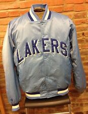 NBA Los Angles Lakers Vintage Blue Satin Basketball Jacket Hardwood Classics