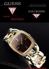 GUESS ORIGINAL LUXURY WOMEN'S GOLD CHAIN WATCH W10103L1