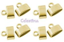 10 Gold Tone Alloy Cord Ends CF NF LF 10mm long  x 11.5mm