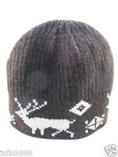 A6:New Imported Unisex Beanie Hat/Bonet-Brown