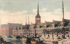 Denmark Kobenhavn, Copenhagen, Borsen, boats