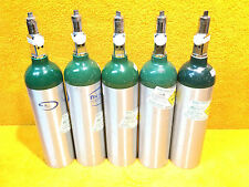 LOT OF (5) MEDICAL OXYGEN TANKS CYLINDER TYPE M1 170 LITERS UN 1072 CGA 870