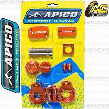 Apico Bling Pack Orange Blocks Caps Plugs Clamp Cover For KTM EXC 250 2001 MotoX