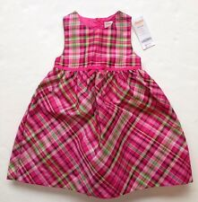 NWT Gymboree Cheery All the Way 18-24 Months Pink & Green Plaid Taffeta Dress