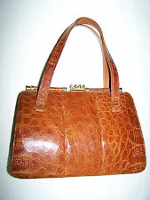 BORSA VERO COCCODRILLO VTG '20/30 GENUINE CROCODILE SKIN HAND BAG