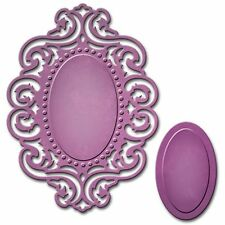 SPELLBINDERS REFLECTIONS OVAL FRAME CUTTING DIE D-LITES - NEW 2015