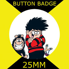 """DENNIS THE MENACE AND GNASHER- BUTTON BADGE 25MM/1"""" D PIN GREAT GIFT FOR FAN #CD"""