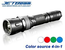 New Jetbeam RRT26 Cree XP-L 1080 Lumens LED Flashlight ( Red, Green, Blue LED )