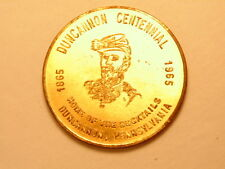 Brass or gold colored 1965 medal: Centennial of  Duncannon, PA