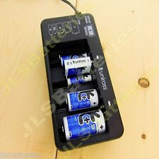 UNIROSS Universal Battery Charger for AAA AA C D 9V Batteries