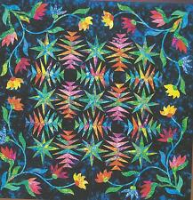 Tropical Flowers wall hanging paper piecing quilt pattern Niemeyer
