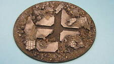 Painted Stormcloud Attack 2 x  Large Oval Resin Bases  Flyers Rubble