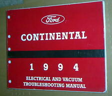 1994 LINCOLN CONTINENTAL ELECTRICAL VACUUM TROUBLESHOOTING EVTM MANUAL