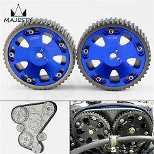 2Pcs Cam Gear Pulley Kit Fit Mitsubishi Lancer EVO 1-9 ECLIPSE DSM 4G63 blue