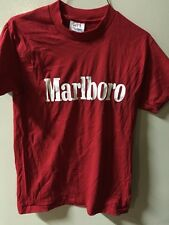 "Vintage NOS 1980's Marlboro T-Shirt-Men's Size ""S"".HEF-T-Made In USA"