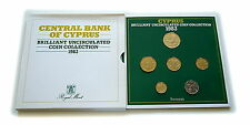 1983 Cyprus Brilliant Uncirculated Coin Set Royal Mint